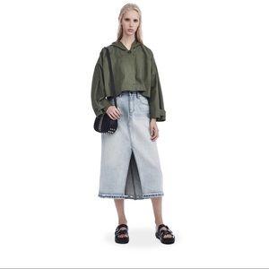 NWT Alexander Wang Denim Skirt